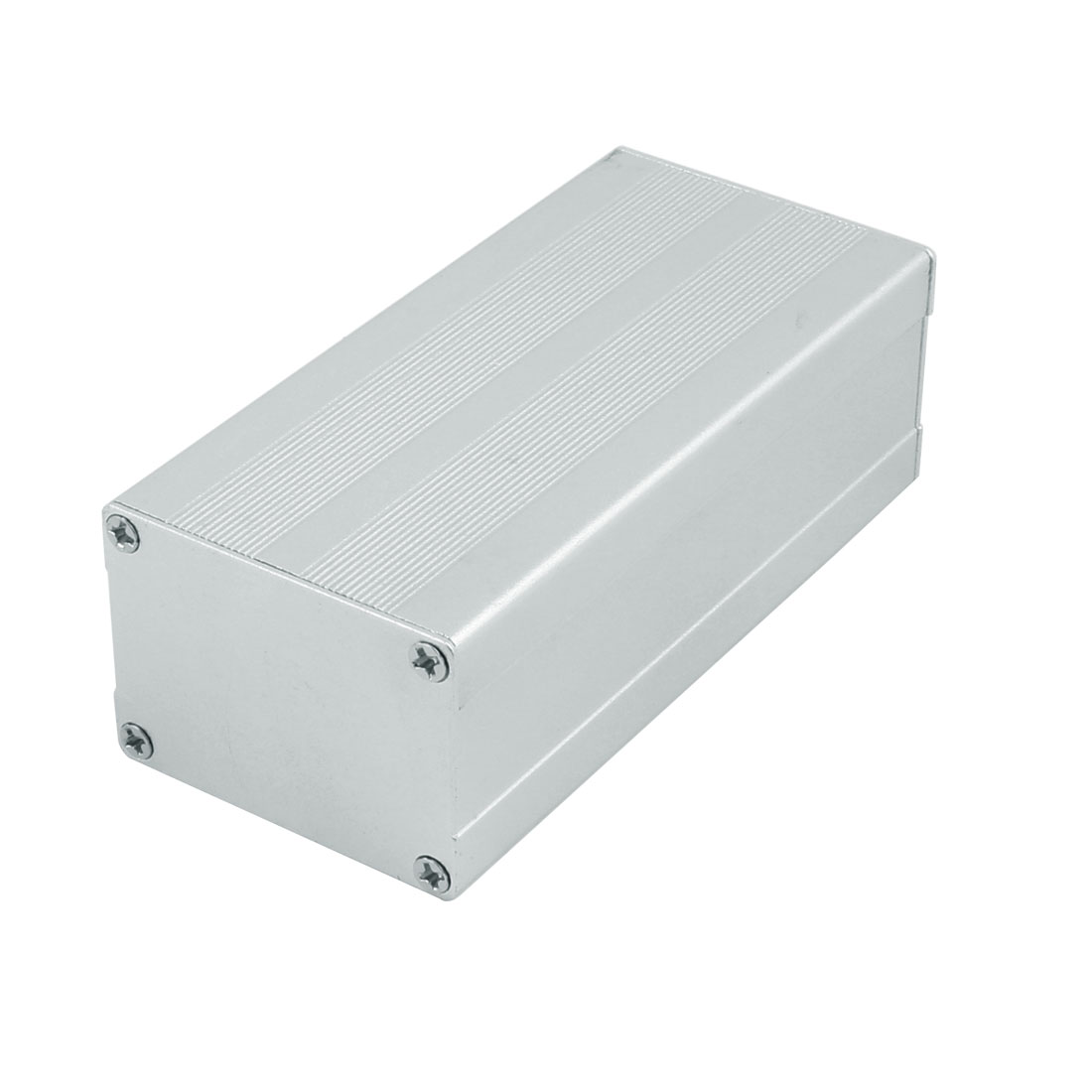 113 x 52 x 38mm Multi-purpose Electronic Extruded Aluminum Enclosure Silver Tone