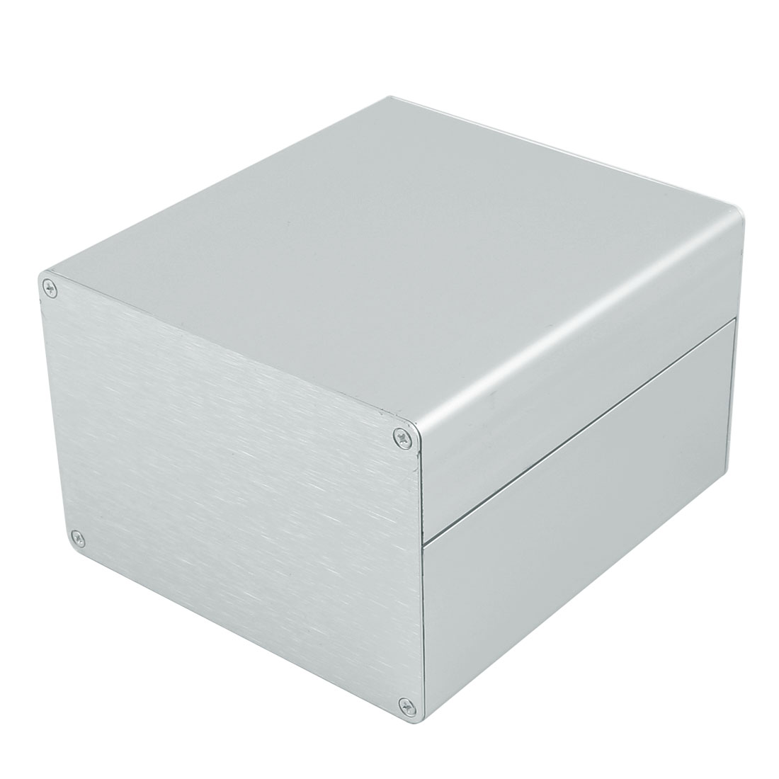 130 x 120 x 83mm Multi-purpose Extruded Aluminum Enclosure Box Silver Tone