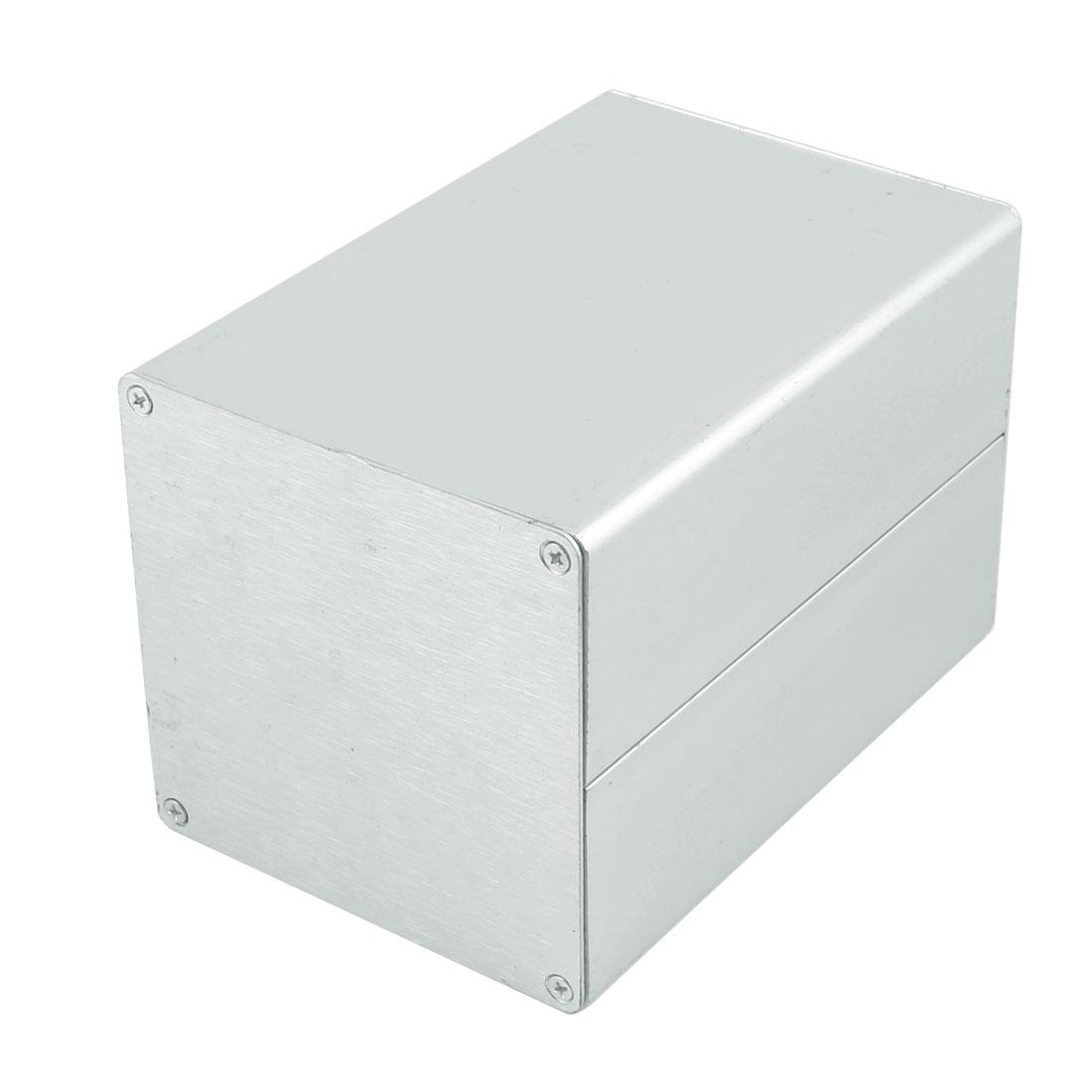90 X 90 X 130mm Multi-purpose Electronic Extruded Aluminum Enclosure Case Silver Tone