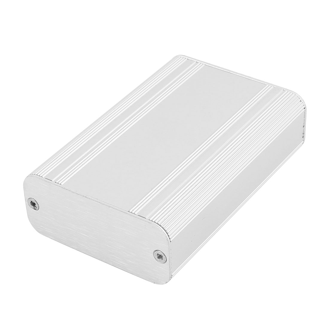 87x58x25mm Multi-purpose Extruded Aluminum Enclosure Electronic Box Silver Tone