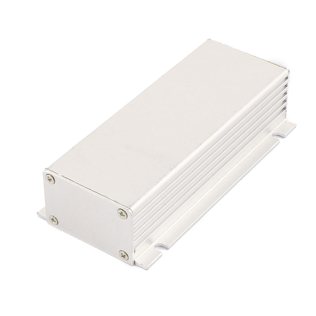 113 x 55 x 28mm Multi-purpose Electronic Extruded Aluminum Enclosure Silver Tone