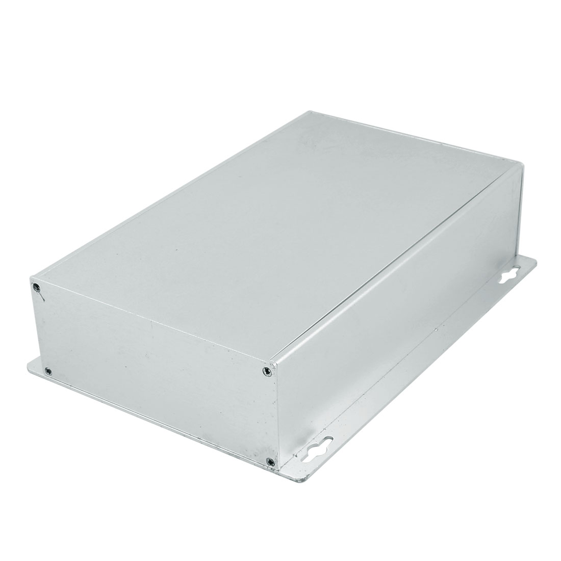 223 x 159 x 55mm Multi-purpose Extruded Aluminum Enclosure Box Silver Tone