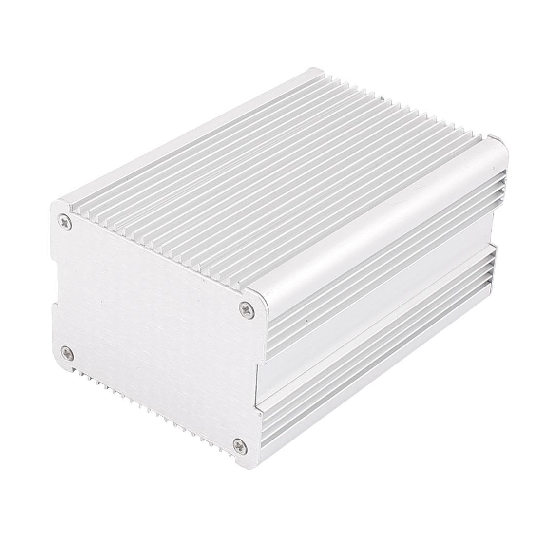 123 x 82 x 60mm Multi-purpose Electronic Extruded Aluminum Enclosure Silver Tone