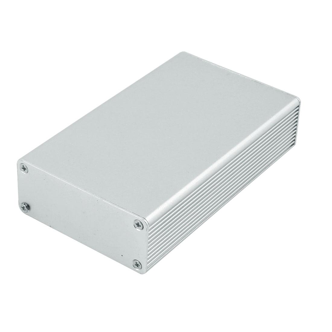 112 x 66 x 27mm Multi-purpose Electronic Extruded Aluminum Enclosure Silver Tone