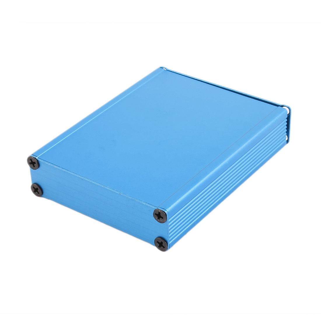21 x 80 x 100mm Multi-purpose Electronic Extruded Aluminum Enclosure Box Blue