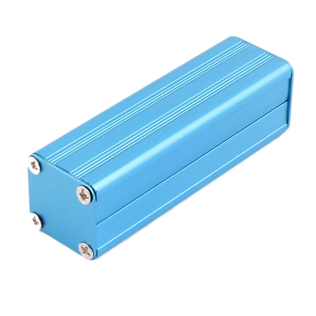 82 x 25 x 25mm Multi-purpose Electronic Extruded Aluminum Enclosure Case Blue