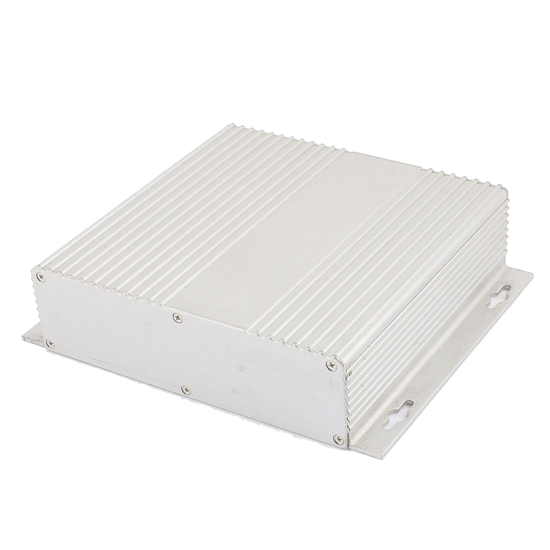 158 x 190 x 46mm Multi-purpose Electronic Extruded Aluminum Enclosure Silver Tone