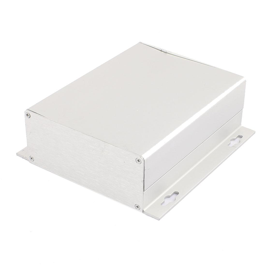 158 x 150 x 52mm Multi-purpose Electronic Extruded Aluminum Enclosure Silver Tone