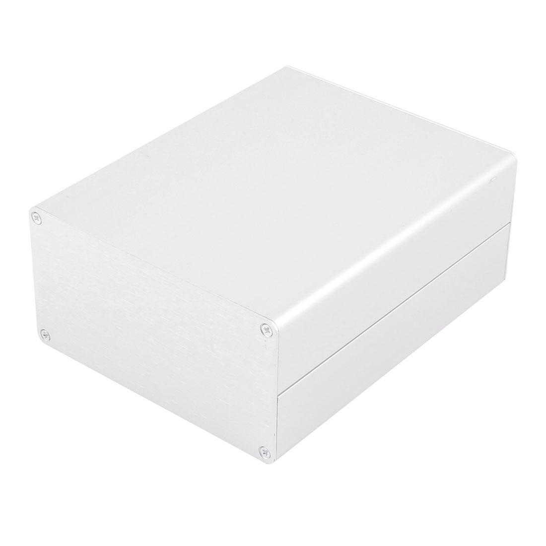 62.8 x 120 x 150mm Multi-purpose Electronic Extruded Aluminum Enclosure Silver Tone