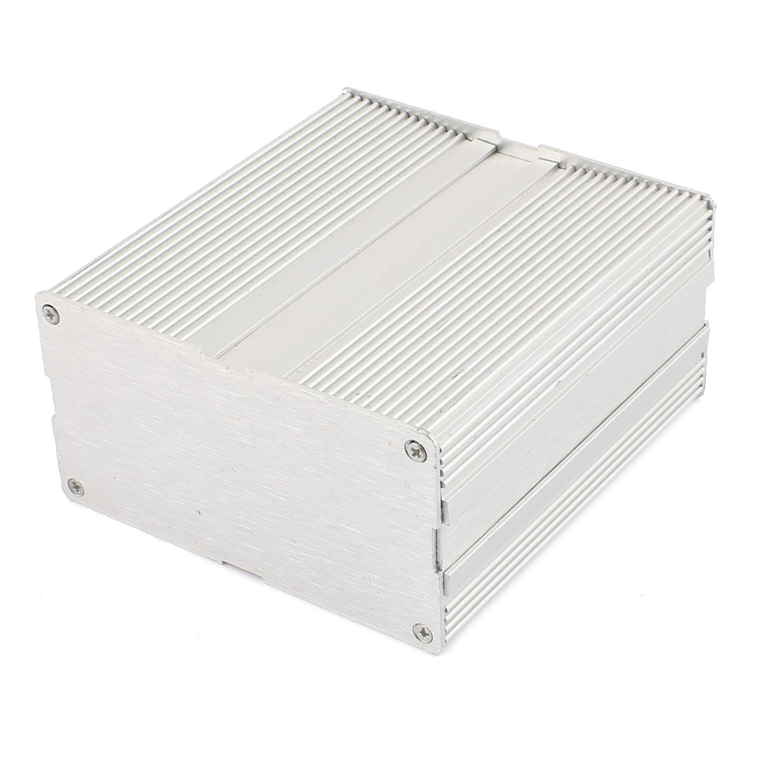 124 x 115 x 61mm Multi-purpose Electronic Extruded Aluminum Enclosure Silver Tone