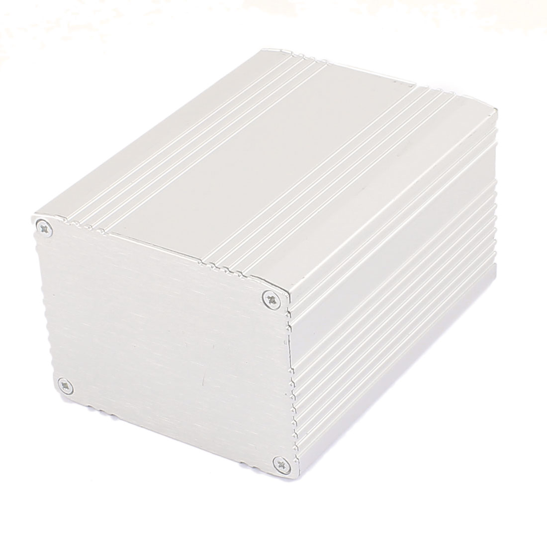 103 x 75 x 56mm Multi-purpose Electronic Extruded Aluminum Enclosure Silver Tone