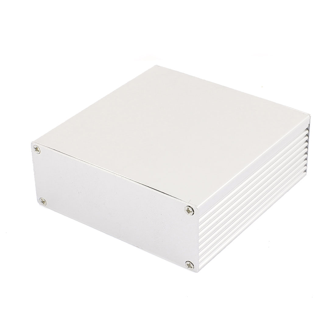 113 x 110 x 40mm Multi-purpose Electronic Extruded Aluminum Enclosure Silver Tone