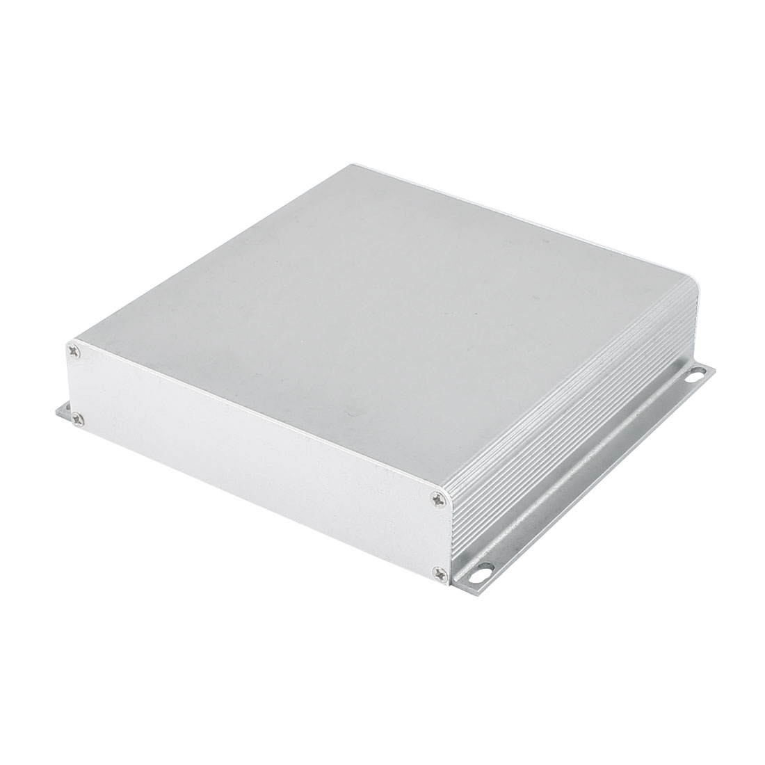143 x 155 x 32mm Multi-purpose Electronic Extruded Aluminum Enclosure Case Gray