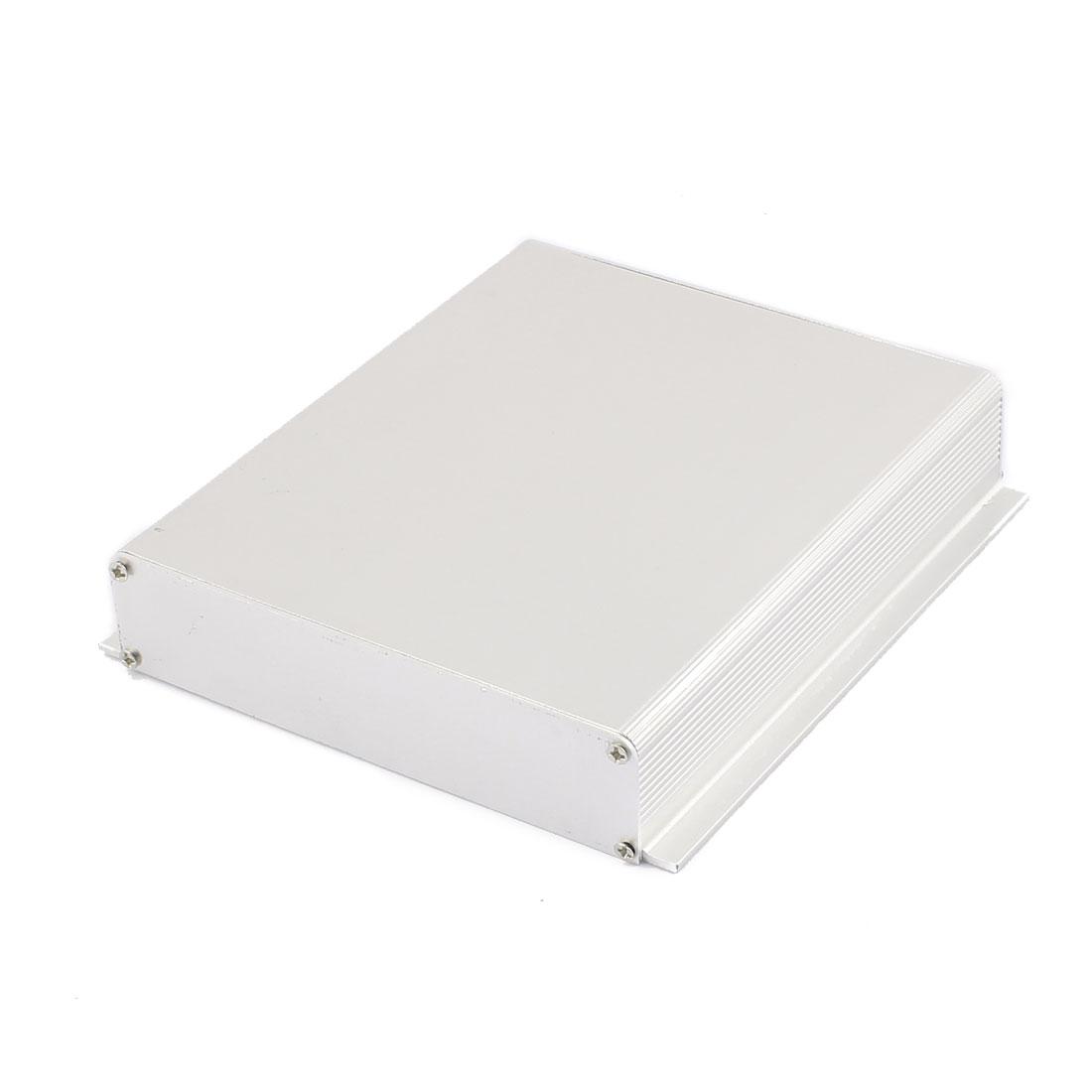 164 x 155 x 33mm Multi-purpose Electronic Extruded Aluminum Enclosure Silver Tone