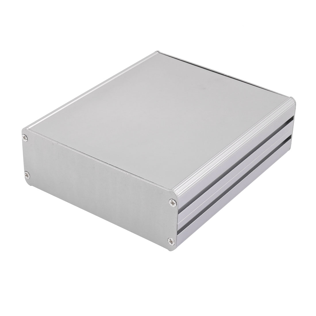 143 x 122 x 43mm Multi-purpose Electronic Extruded Aluminum Enclosure Case Gray