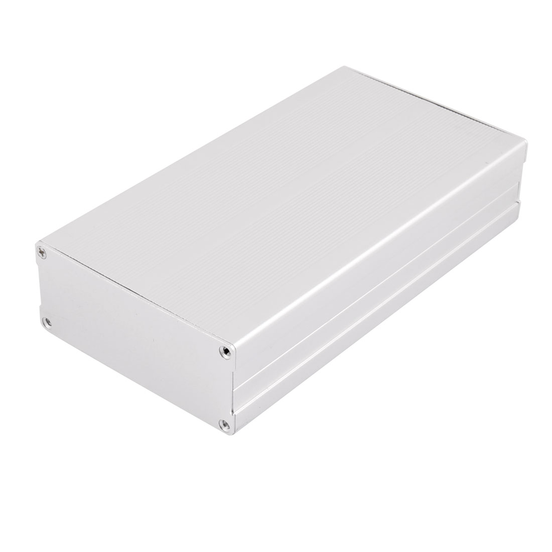 183 x 97 x 40mm Multi-purpose Electronic Extruded Aluminum Enclosure Silver Tone