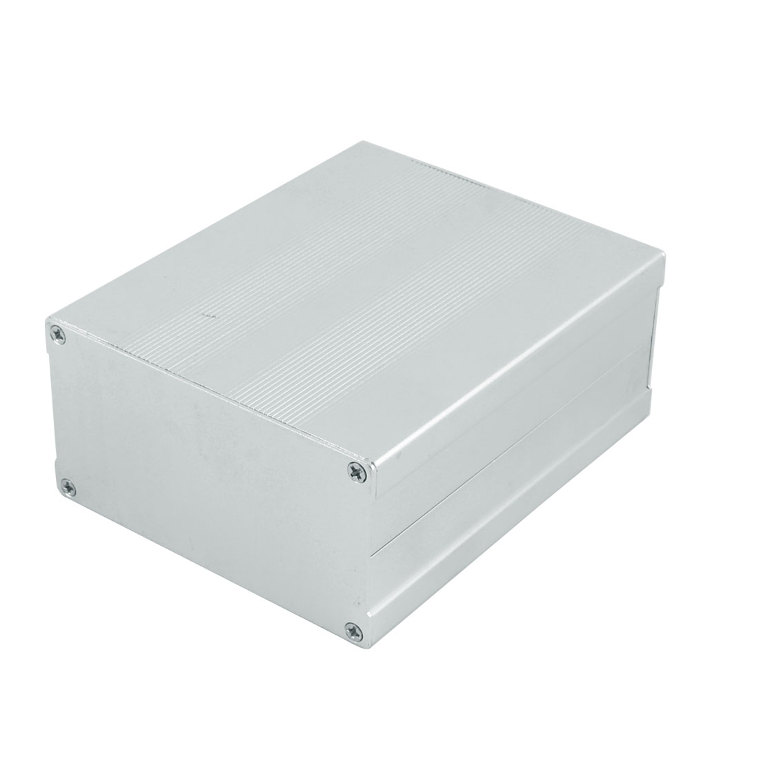 133 x 106 x 55mm Multi-purpose Electronic Extruded Aluminum Enclosure Silver Tone