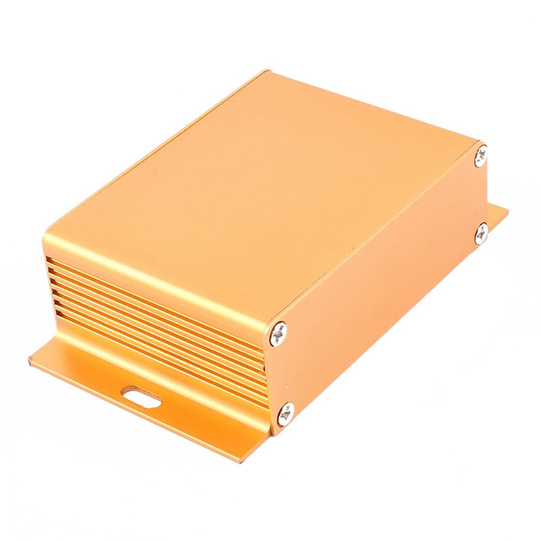 62 x 104 x 28mm Multi-purpose Electronic Extruded Aluminum Enclosure Gold Tone