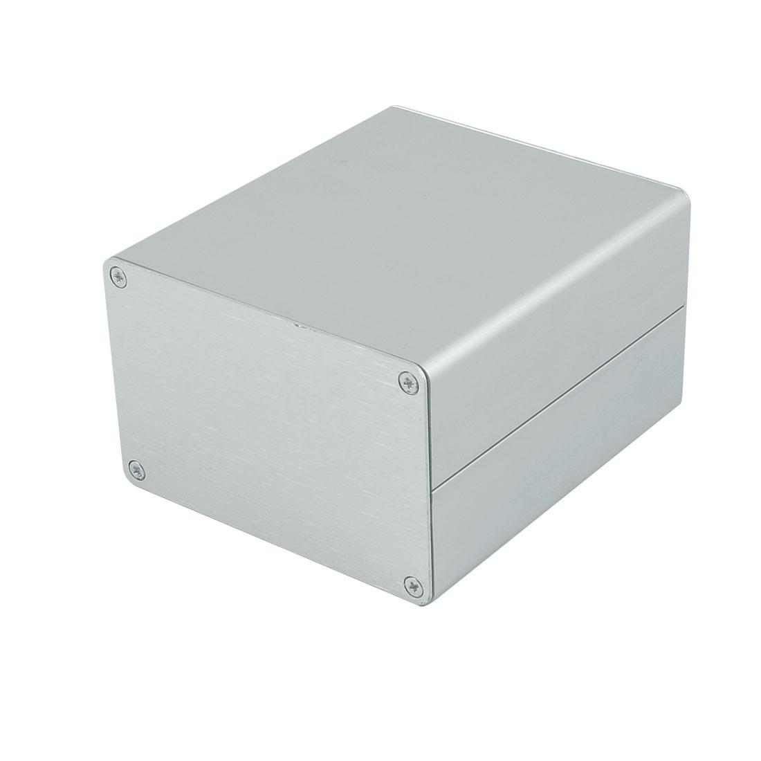 102 x 90 x 59mm Multi-purpose Electronic Extruded Aluminum Enclosure Box Black