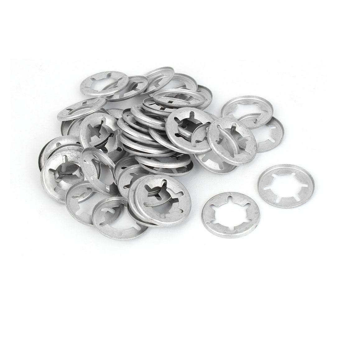 16mm Inner Dia Starlock Push On Fasteners Locking Washers Speed Clips 50 Pcs