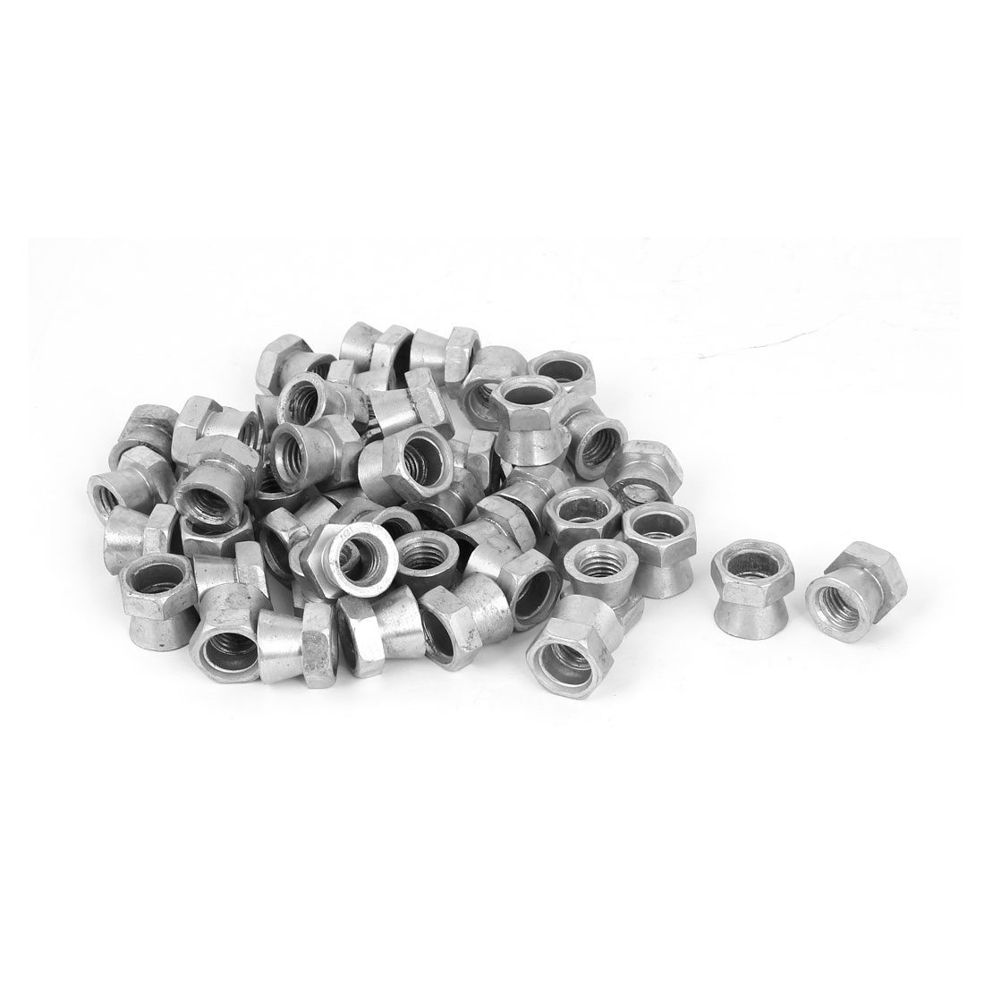 M12 Metric Thread Tamper Proof Galvanised Security Shear Nuts 50 Pcs