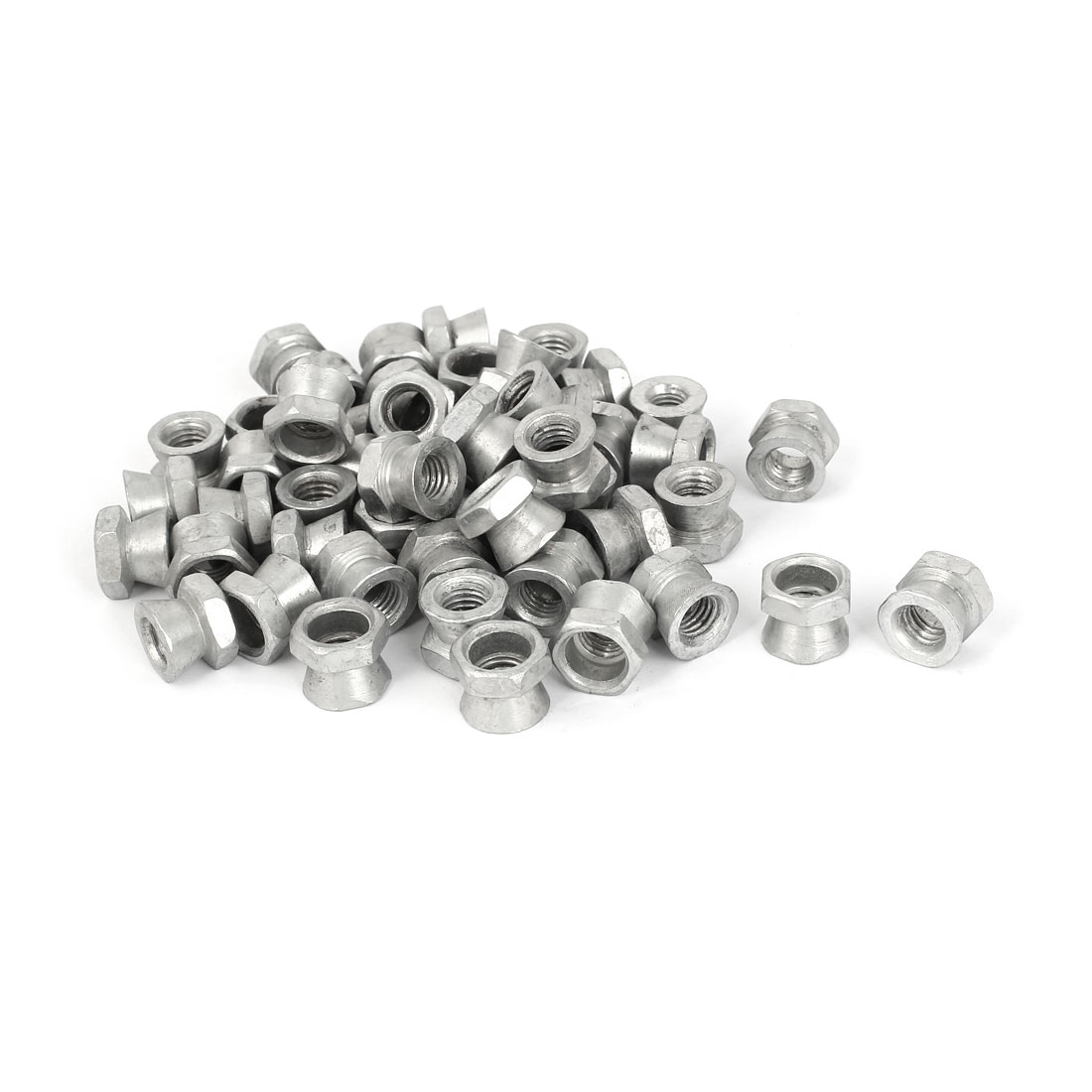 M10 Female Thread Zinc Plated Tamper Proof Security Shear Nuts 50 Pcs