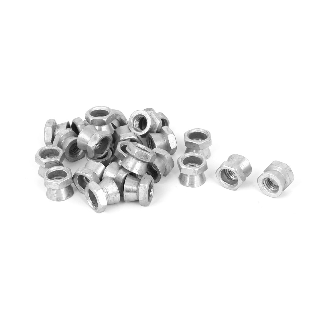M10 Female Thread Tamper Proof Galvanised Security Shear Nuts 25 Pcs