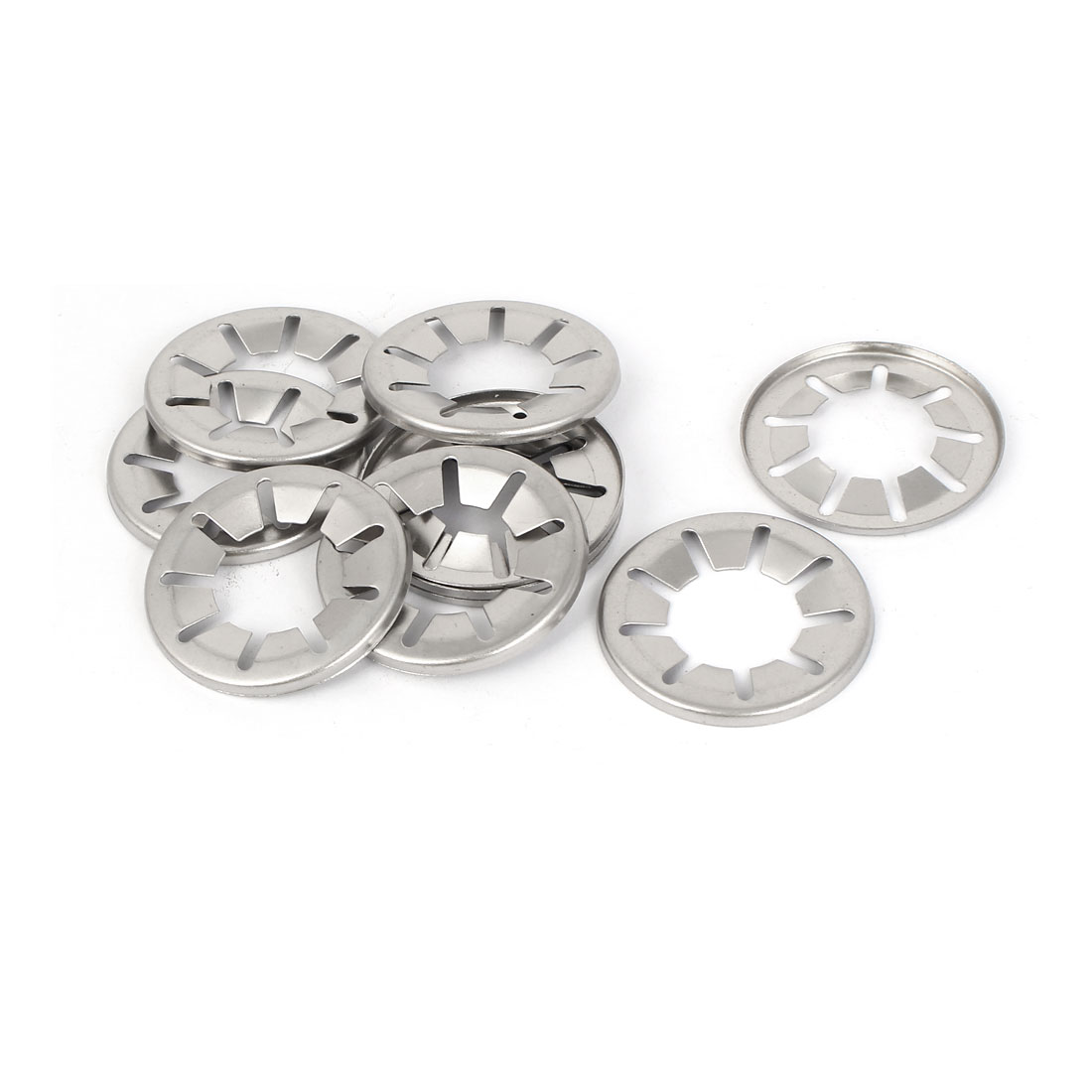 20mm x 39mm x 2.7mm 304 Stainless Steel Starlock Washers Fasteners 10 Pcs