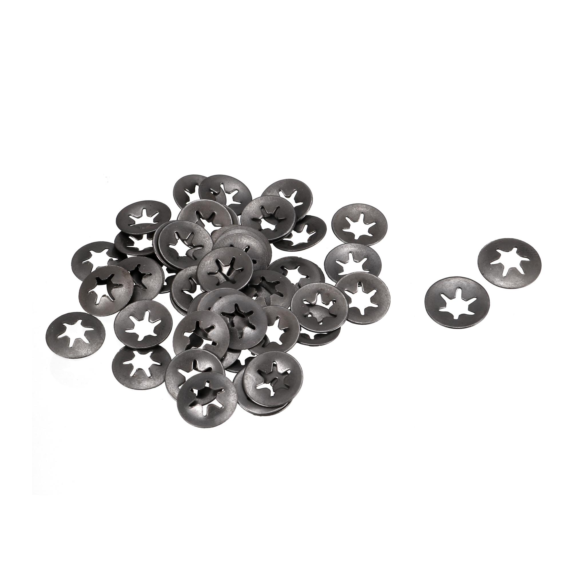 4mm x 11.4mm x 1.4mm Starlock Locking Washers Speed Clips Fasteners 100 Pcs