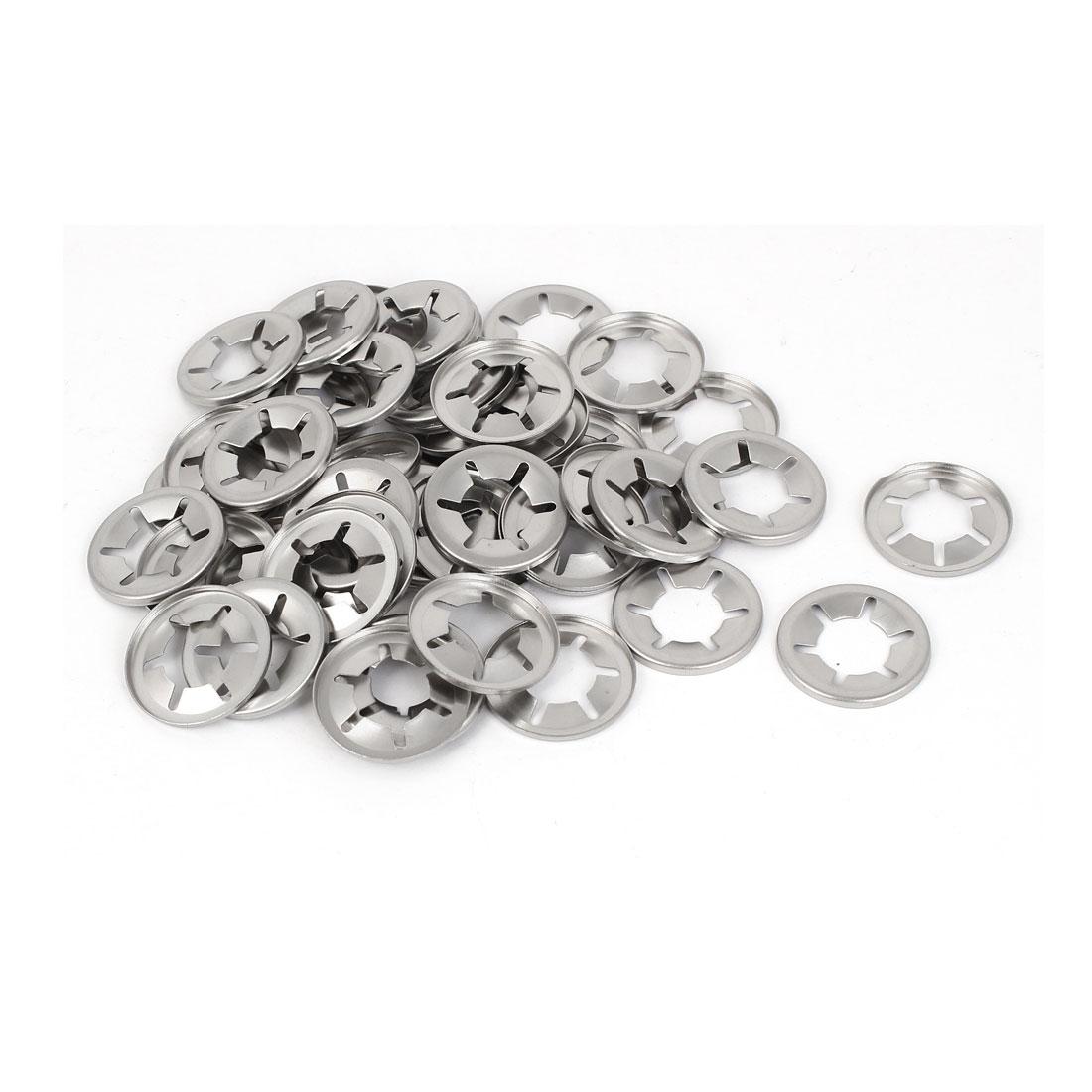 14mm Inner Diameter 304 Stainless Steel Starlock Locking Washers 50 Pcs