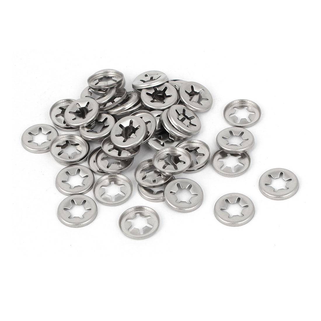 5mm x 11.5mm x 1.3mm Starlock Push On Fasteners Locking Washers 100 Pcs