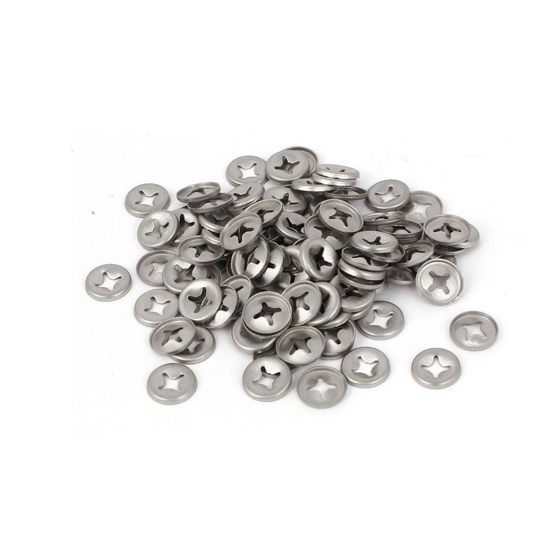 3mm x 9.6mm x 1.2mm 304 Stainless Steel Starlock Locking Washers 100 Pcs