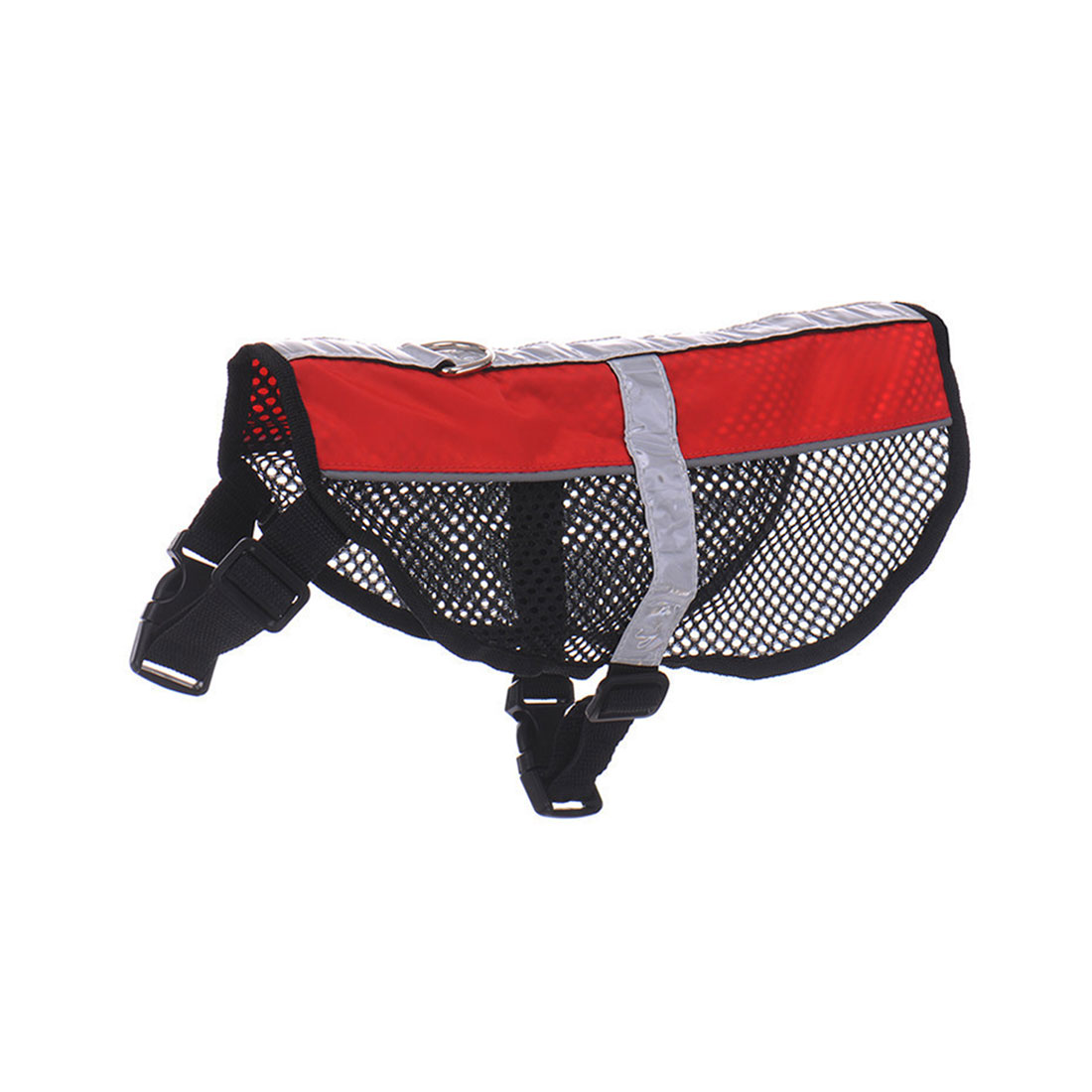 Service Dog Mesh Vest Harness Cool Comfort Nylon Puppy High Visibility Safety Jacket Red S