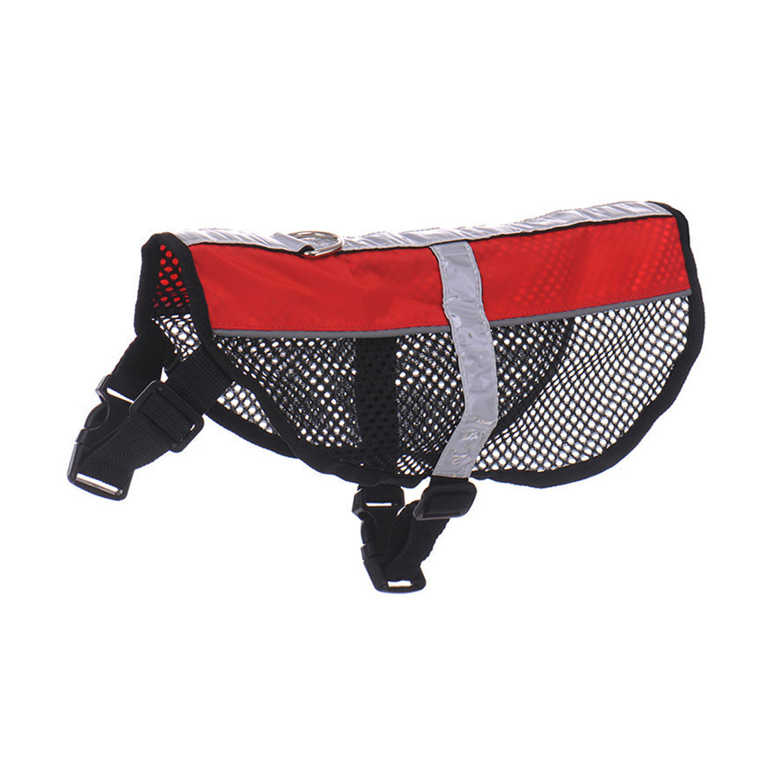 Service Dog Mesh Vest Harness Cool Comfort Nylon High Visibility Safety Jacket Red M