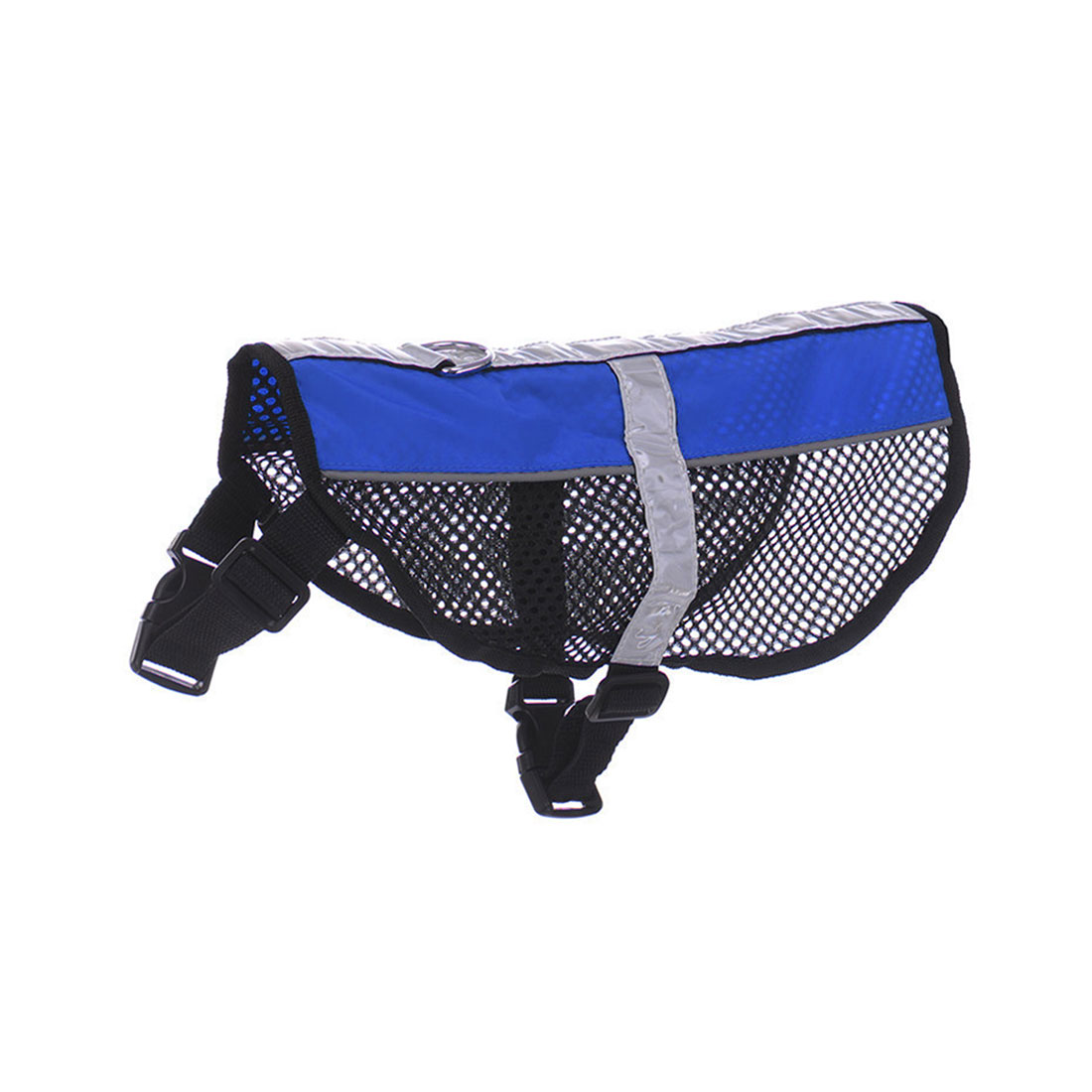 Service Dog Mesh Vest Harness Cool Comfort Nylon High Visibility Safety Jacket Blue S