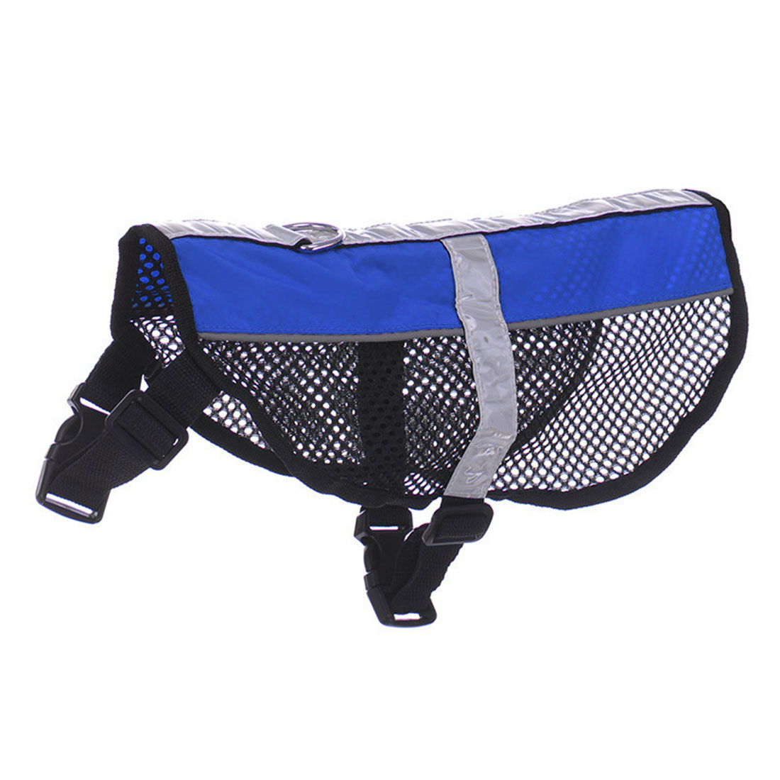 Service Dog Mesh Vest Harness Cool Comfort Nylon High Visibility Safety Jacket Blue L