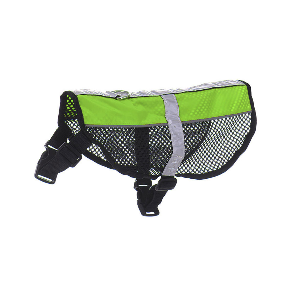 Service Dog Mesh Vest Harness Cool Comfort Nylon High Visibility Safety Jacket Green S