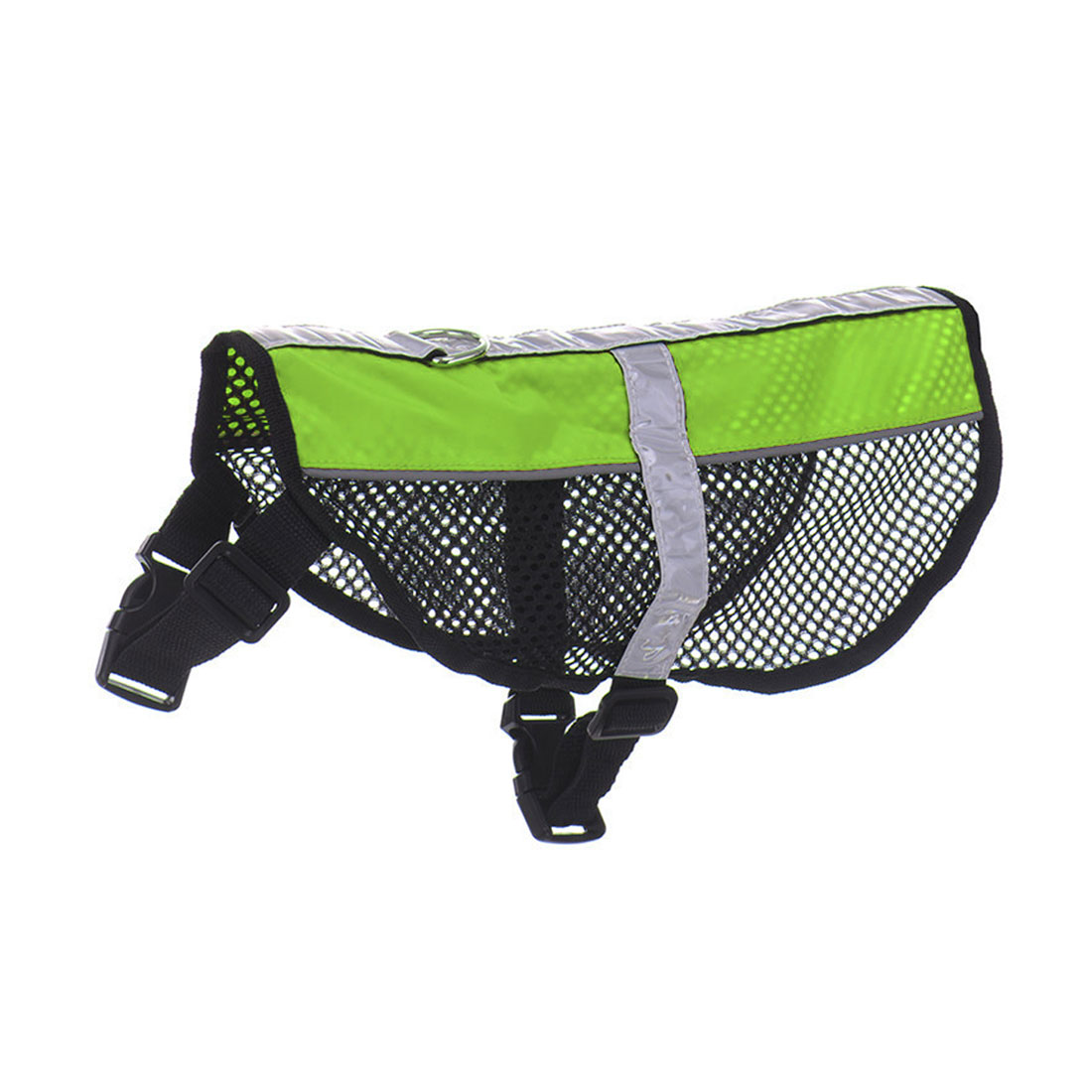 Service Dog Mesh Vest Harness Cool Comfort Nylon High Visibility Safety Jacket Green M