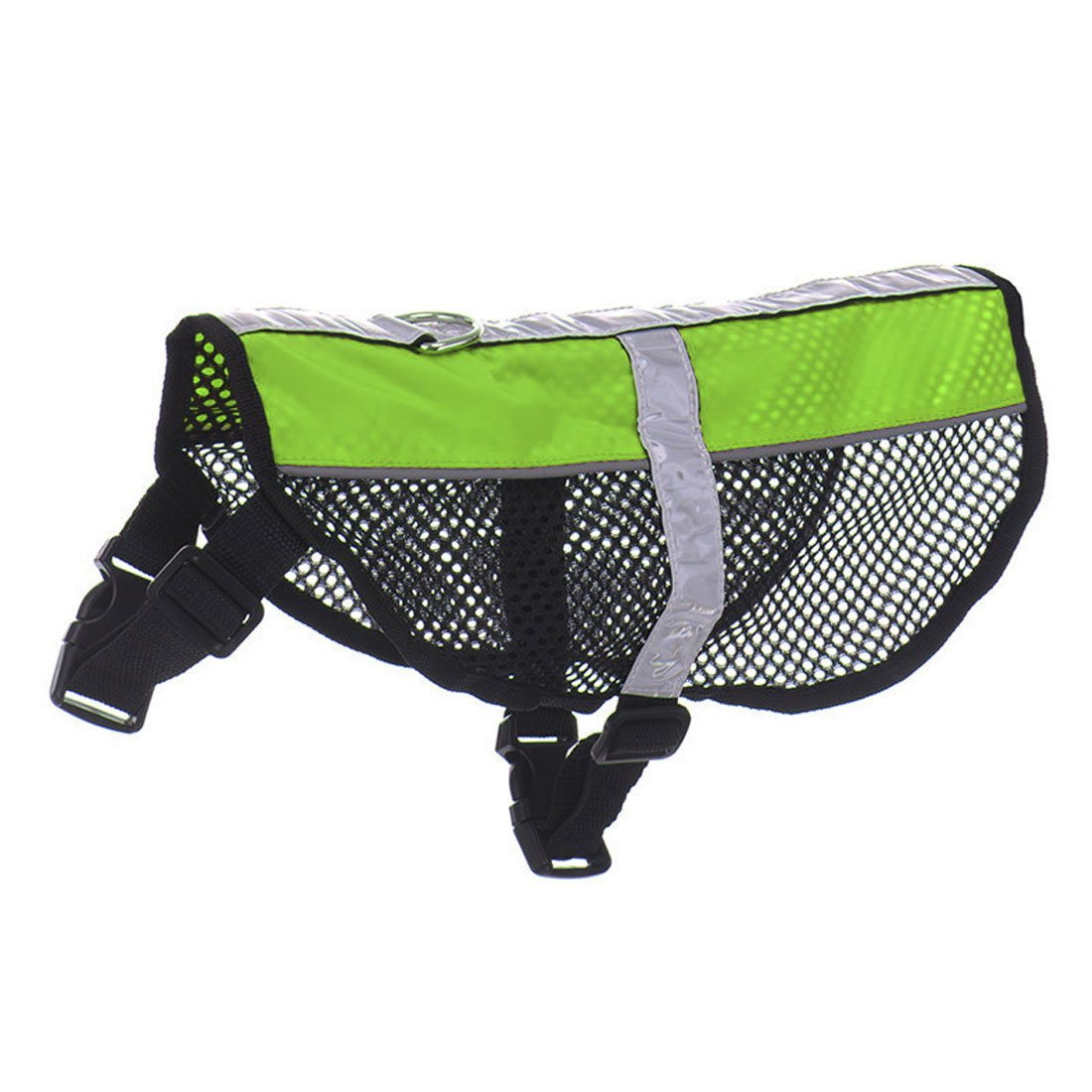 Service Dog Mesh Vest Harness Cool Comfort Nylon High Visibility Safety Jacket Green L