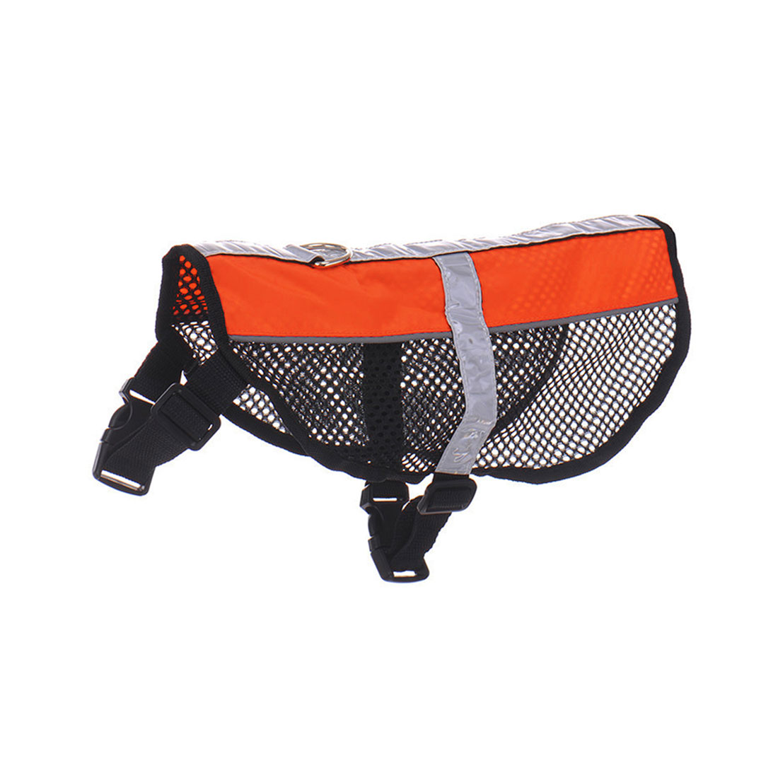 Service Dog Mesh Vest Harness Cool Comfort Nylon High Visibility Safety Jacket Orange S