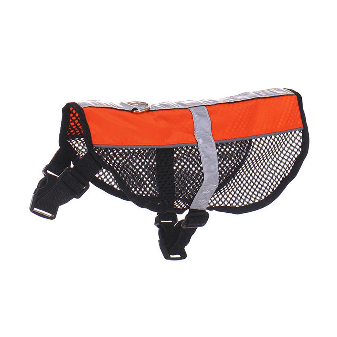 Service Dog Mesh Vest Harness Cool Comfort Nylon High Visibility Safety Jacket Orange M