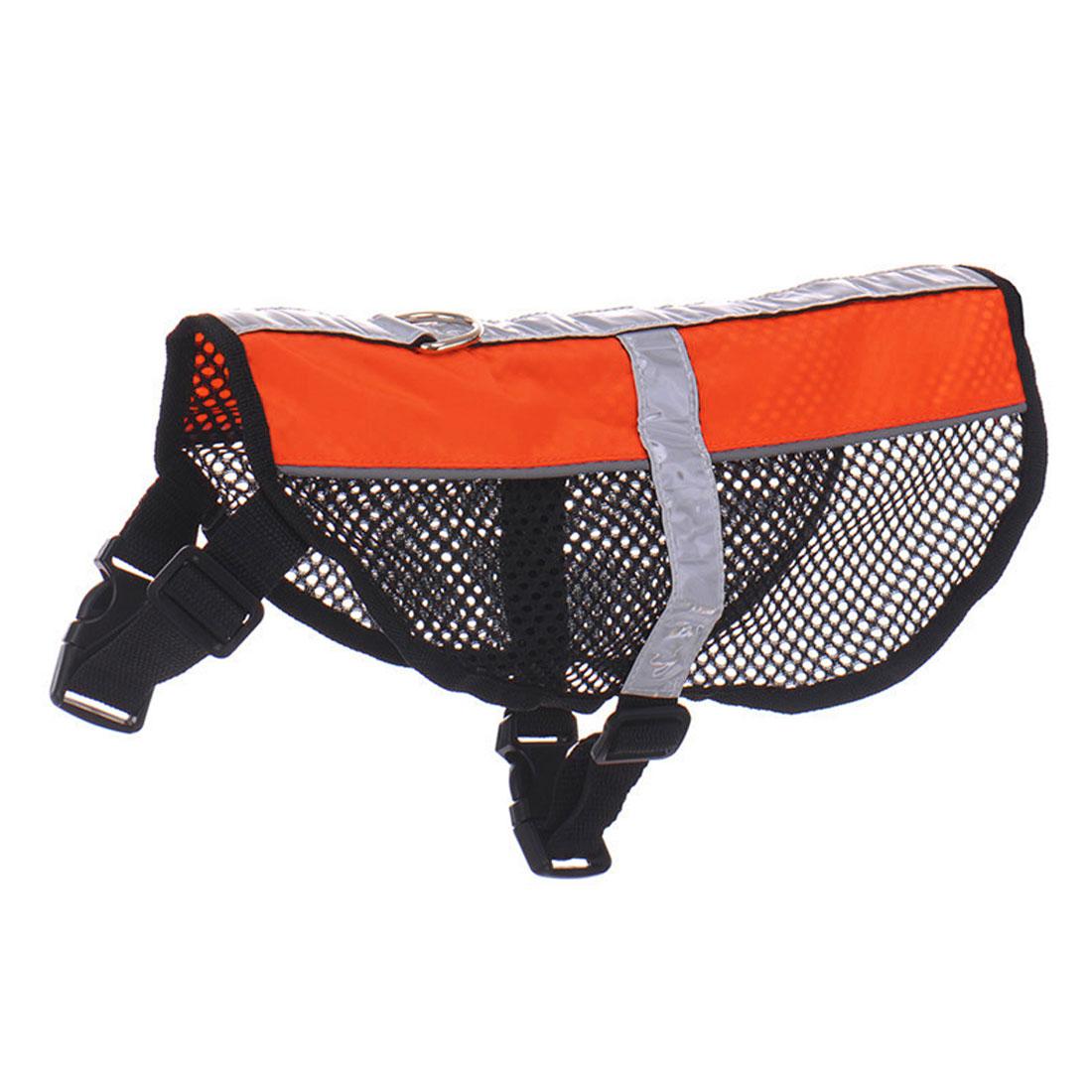 Service Dog Mesh Vest Harness Cool Comfort Nylon High Visibility Safety Jacket Orange L