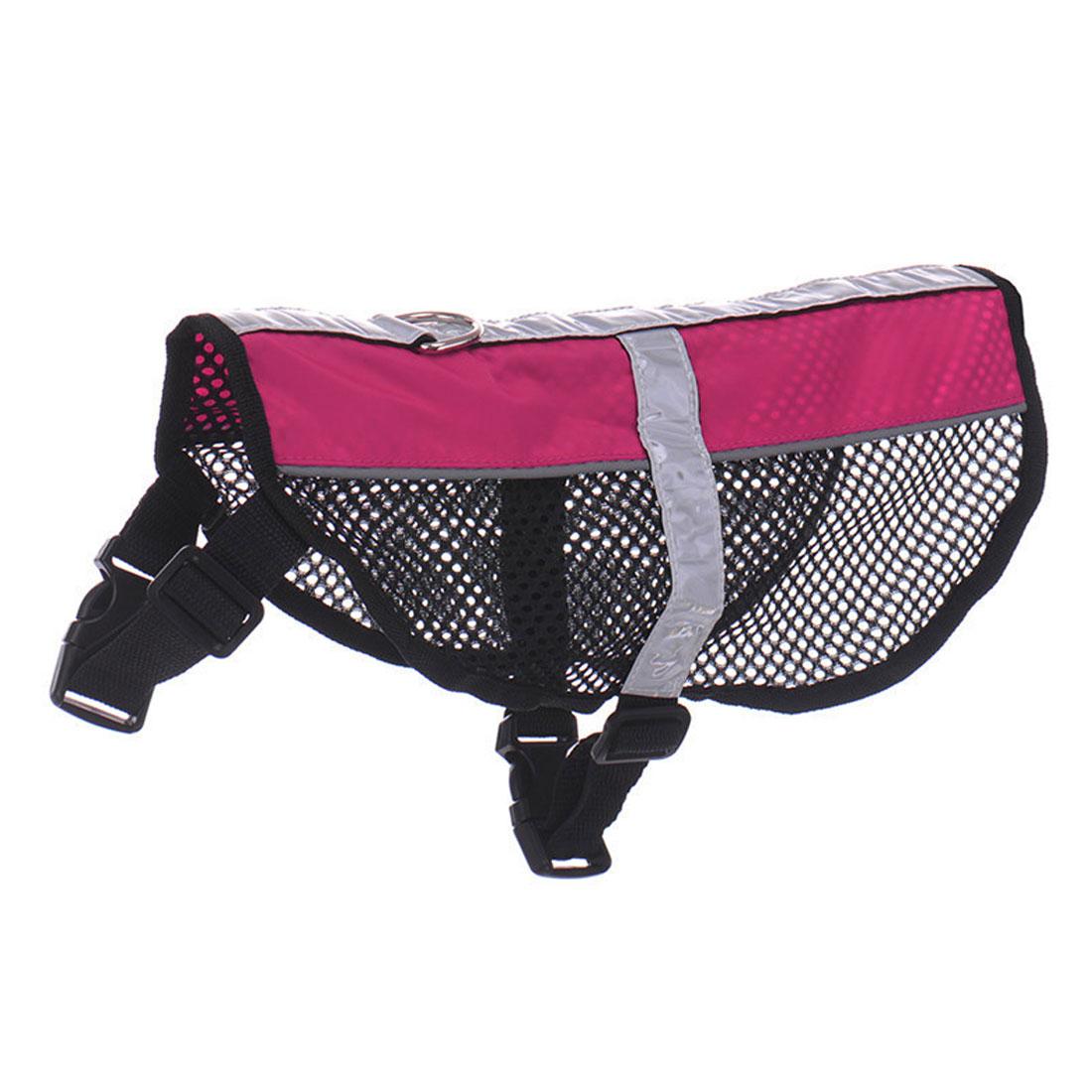 Service Dog Mesh Vest Harness Cool Comfort Nylon High Visibility Safety Jacket Pink L