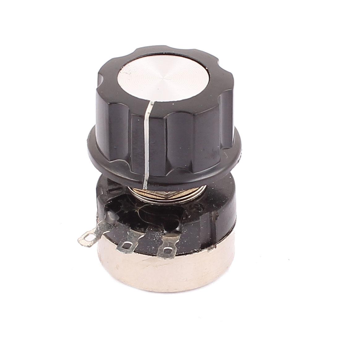 3 Terminals B204 Rotary Wirewound Potentiometer 200K Ohm Adjustable Resistance