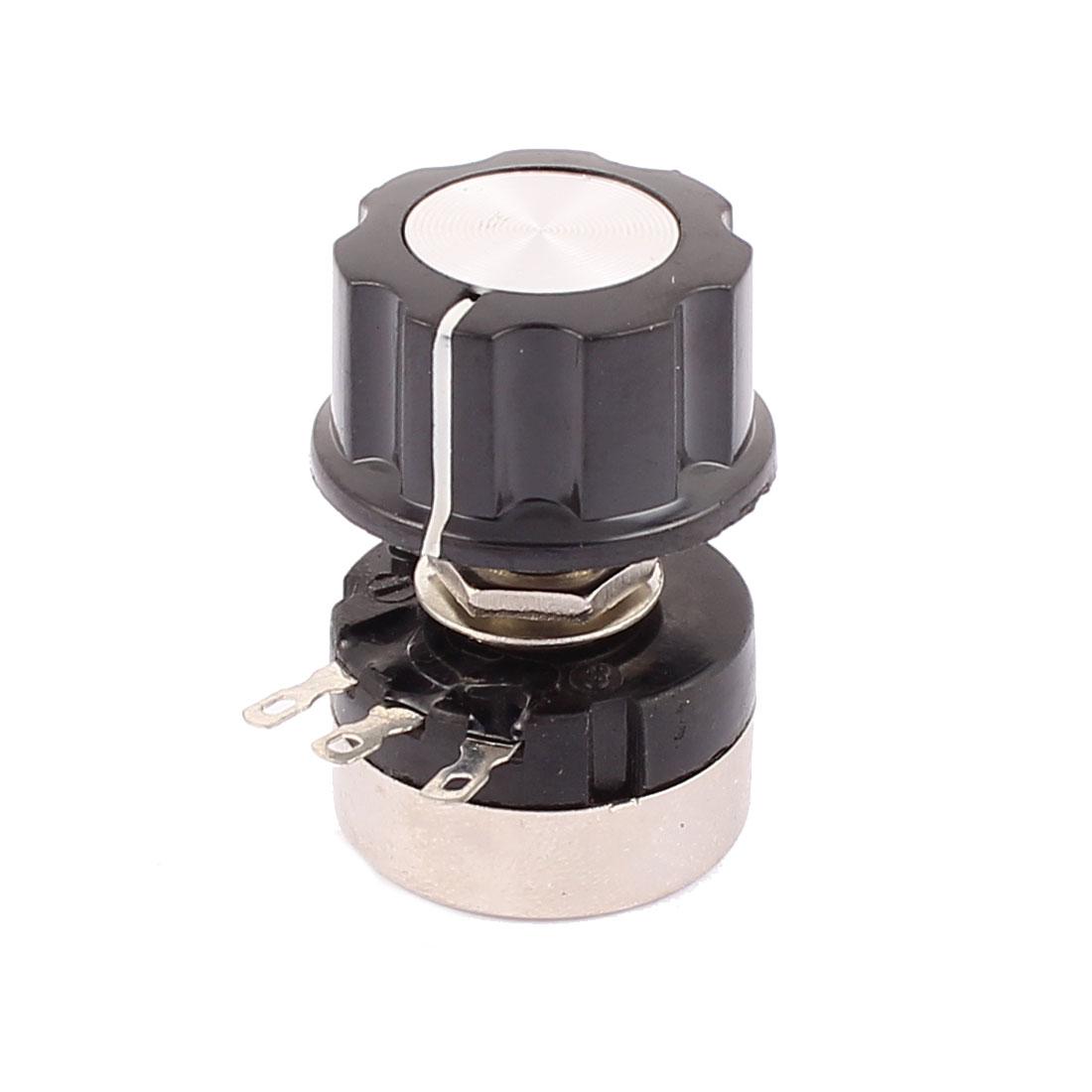 3 Terminals B104 Rotary Wirewound Potentiometer 100K Ohm Adjustable Resistance