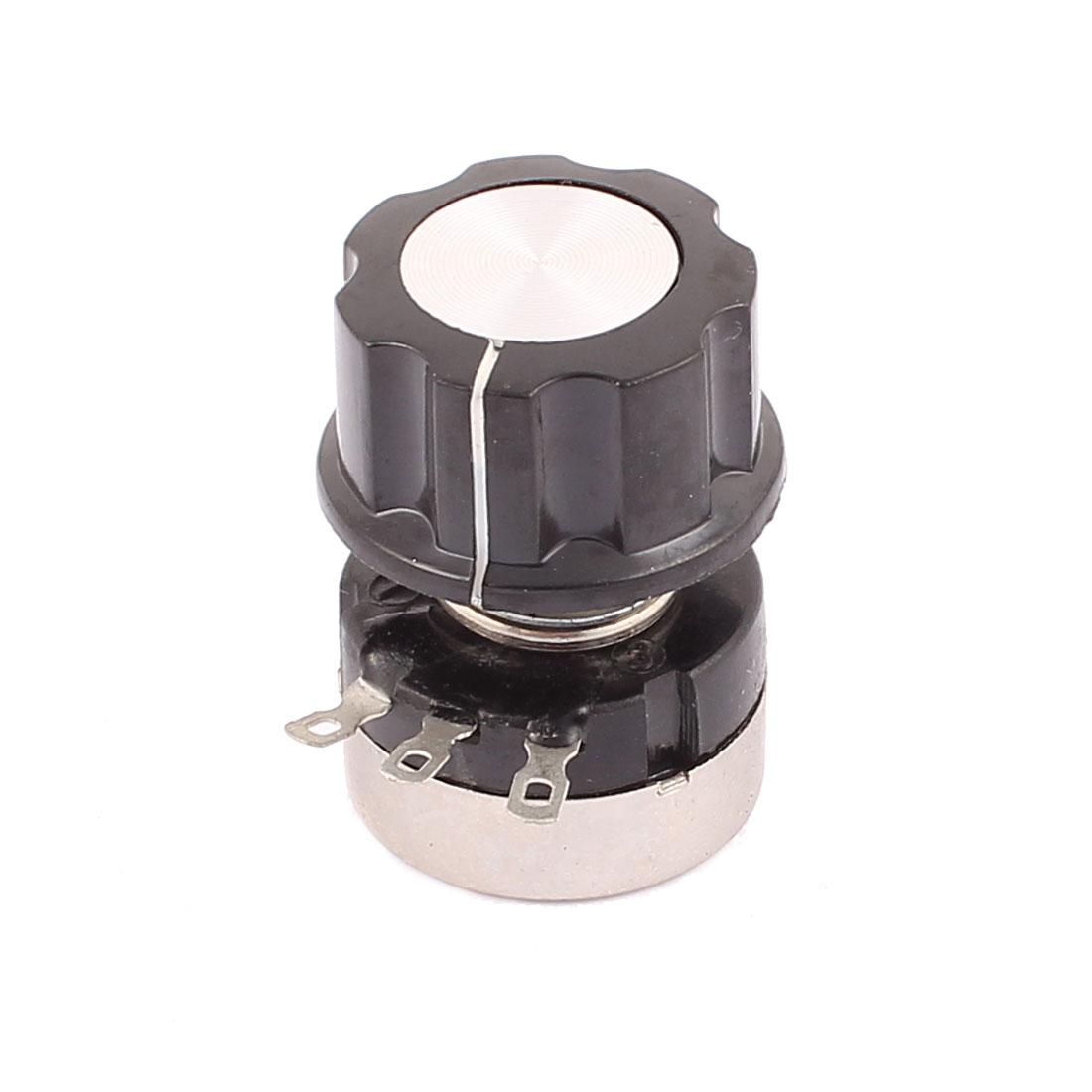 B203 0.25W Rotary Wirewound Potentiometer 20K Ohm Adjustable Resistance