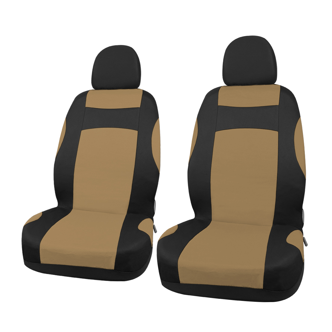 New Car Seat Covers Full Set for Auto w/ 4 Head Rests Beige