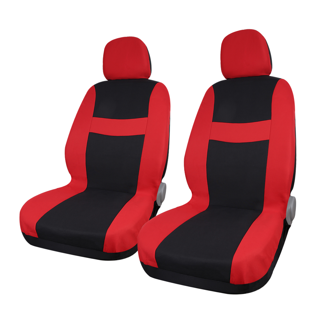 Red Black Car Seat Covers with Headrest for Auto Truck