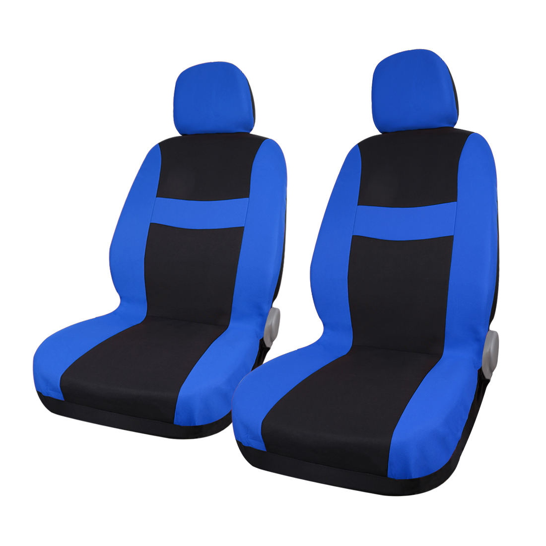 Blue Black Car Seat Covers with Headrest for Auto Truck