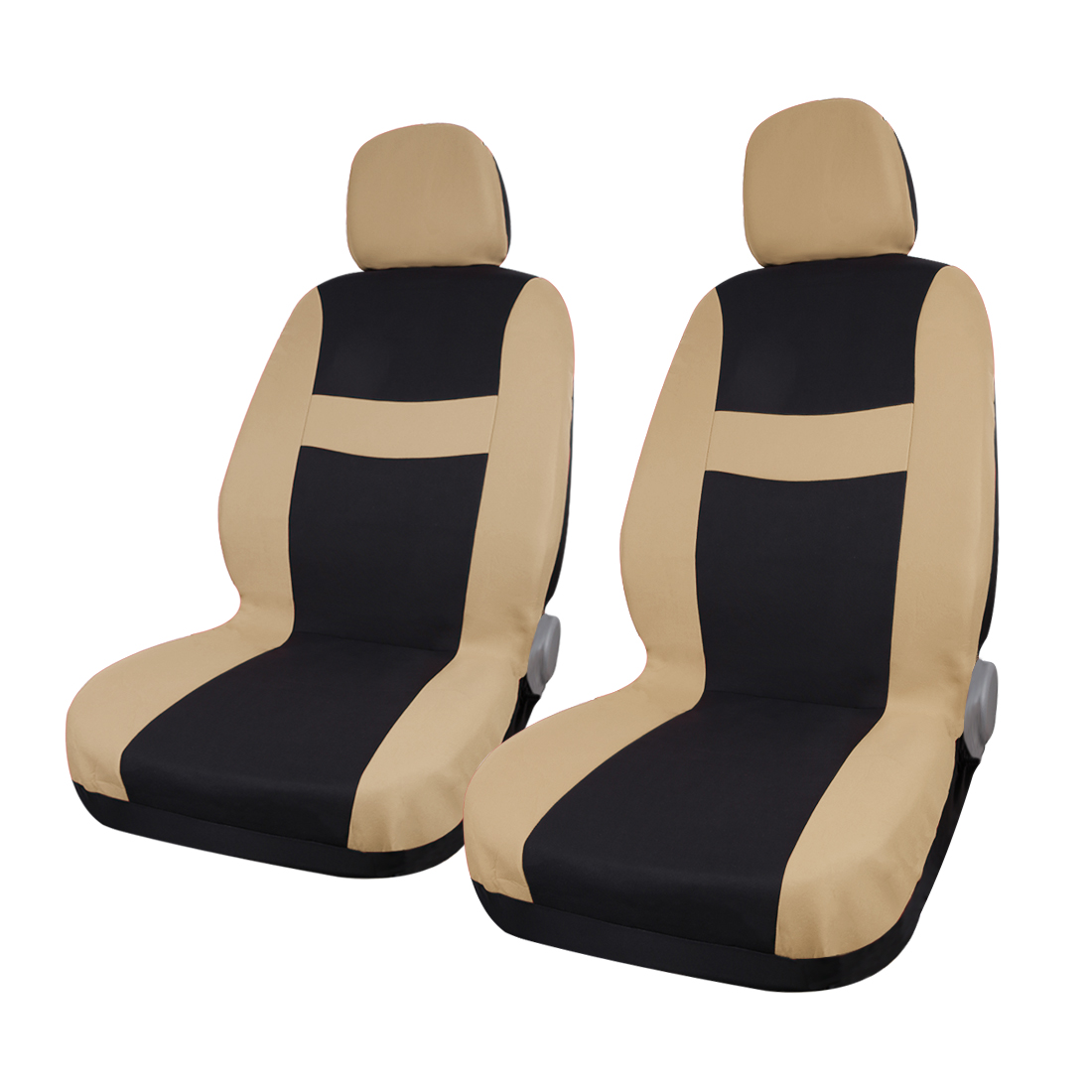 8 piece Beige Black Car Seat Covers with Headrest for Auto Truck